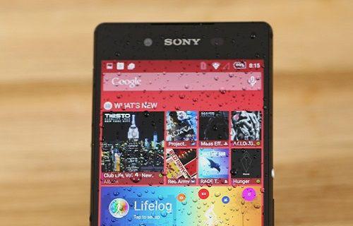 Sony Xperia Z3+ mükemmel bir ıslak ekran kullanım deneyimi sunuyor [video]