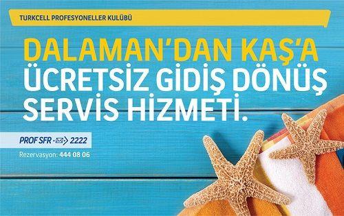 Turkcell Profesyoneller Kulübü Kaş'a Gidiyor!