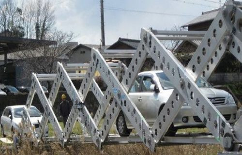 Japon icadı katlanabilir mobil köprü! Video