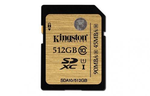Kingston 512 GB'lık hafıza kartını tanıttı