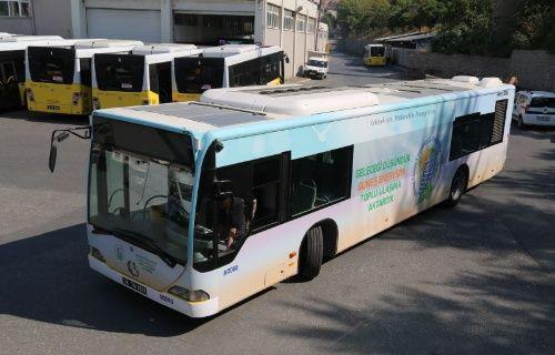 İETTnin güneş enerjili ilk otobüsü seferine başladı!
