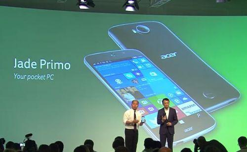 IFA 2015: Acer Jade Primo ve Windows 10 Continuum Desteği