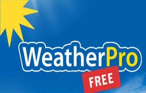 Android için WeatherPro artık ücretsiz