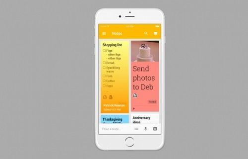 Google'ın popüler not alma uygulaması Google Keep, iOS için yayınlandı