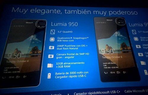 Lumia 950, Lumia 950 XL ve Lumia 550'ye ait özellikler onaylandı