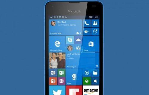 Lumia 550'nin basın görüntüsü ve teknik özellikleri