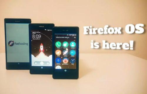 Firefox OS Sony Xperia cihazlar için artık kullanılabilir!