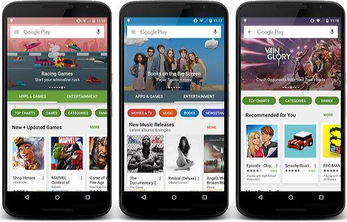 Google Play Store yeni bir tasarıma kavuşuyor