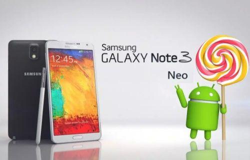 Samsung Galaxy Note 3 Neo'ya Android Lollipop yakında geliyor!