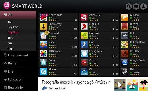 LG Smart TV sahipleri 10GB Yandex.Disk'e kavuştu!