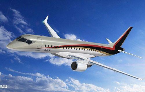 Japonya'nın ilk ticari jet uçağı ''Mitsubishi Regional Jet'' test uçuşunu gerçekleştirdi
