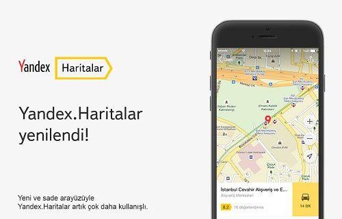 Yandex Haritalar Yenilendi!