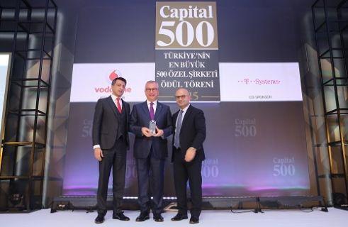 Vodafone'nun desteklediği Capital 500 ödülleri dağıtıldı
