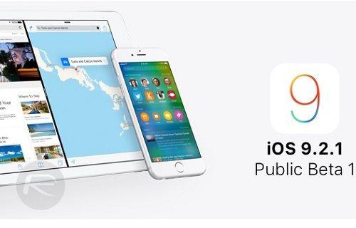 iOS 9.2.1 Public Beta Dağıtıma sunuldu