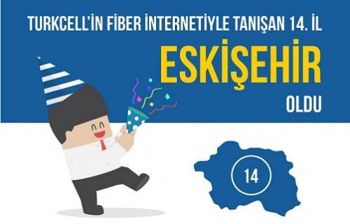 Turkcell Eskişehir'i internette ışık hızına çıkardı