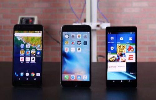 iPhone 6S Plus, Nexus 6P, Lumia 950 XL hız testi [video]