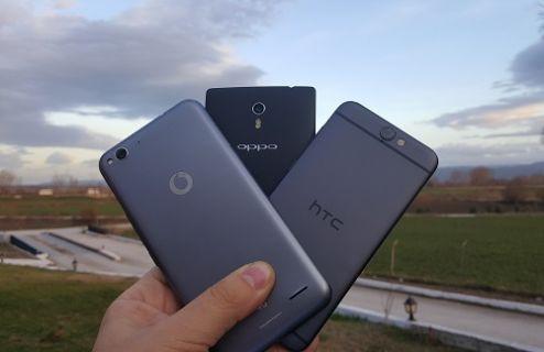 HTC One A9, Vodafone Smart 6 ve Oppo Find 7 karşılaştırma