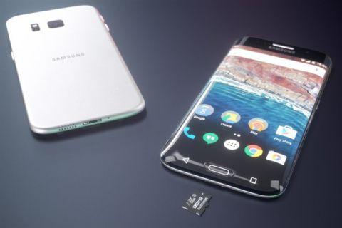 3 kenarı kavisli Samsung Galaxy S7 edge konsepti