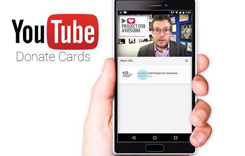 YouTube yayıncıları vakıflar için kolaylıkla bağış toplayabilecek