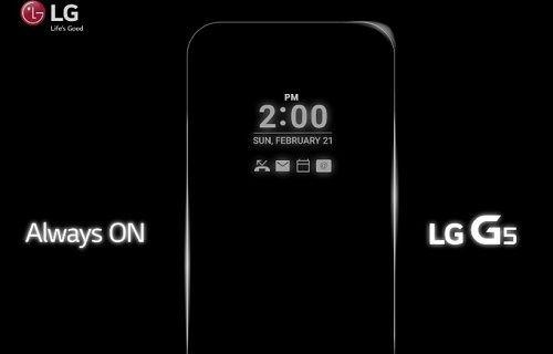 LG G5'te ''Ekran daima açık'' özelliği yer alacak
