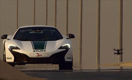 Drone ile McLaren'i Yarıştırdılar