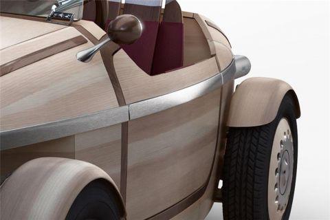 İşte Toyota'nın tamamen ahşap elektrikli otomobili!
