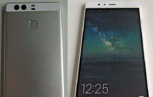 Çift kameralı Huawei P9 kullanılırken görüntülendi