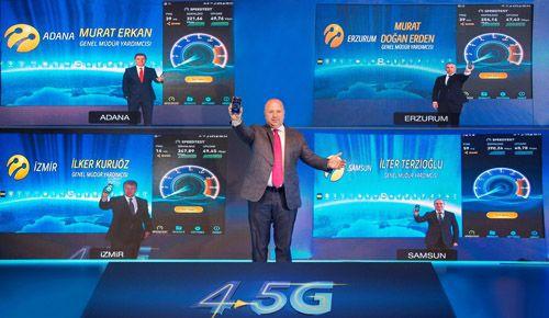 Turkcell 4.5G şebekesini test etti