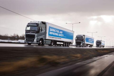 Sürücüsüz kamyon filosu Avrupa'yı dolaştı (Video)