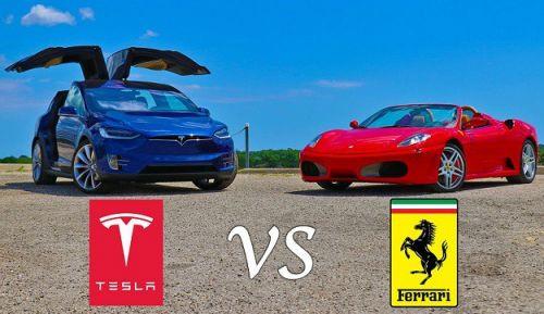 İnanılmaz yarış: Tesla Model X, Ferrari F430'a karşı (Video)