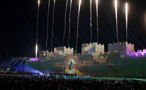 İstanbul'un fethinin 563. yılı kutlamalarında 3 boyutlu şov!