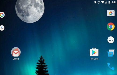 Android telefonun ana ekranında manzara modunu etkinleştirmek