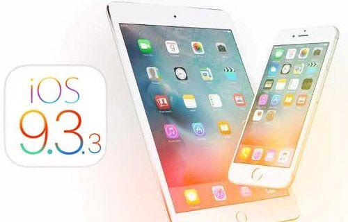 iOS 9.3.3 güncellemesi yayınlandı