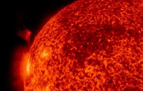 Güneş'in plazma fırlatışının göründüğü video yayımlandı