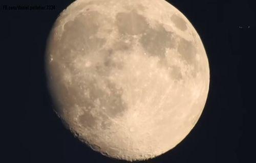 Zoom yaparak Ay'ın yüzeyini inceleyen kamera