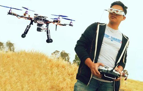 Drone'ların gözünden drone yarışı nasıl görünür?