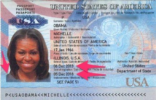 Michelle Obama'nın pasaport bilgileri çalındı!