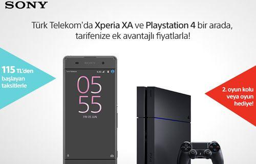 Ayda 115 TL'ye Sony Xperia XA ve PlayStation 4!
