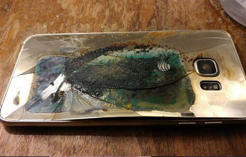 Patlayan Galaxy S6 Edge komodini yaktı