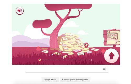 Google, Sevgililer Günü için oyunlu Doodle hazırladı