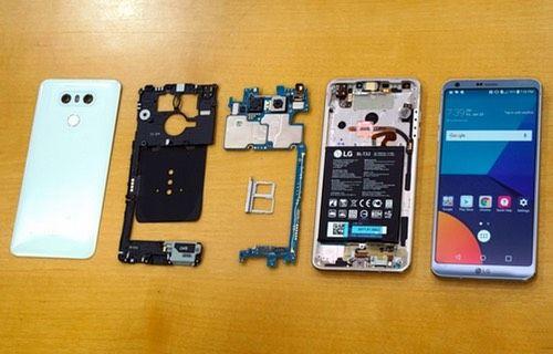 LG G6 parçalarına ayrıldı!