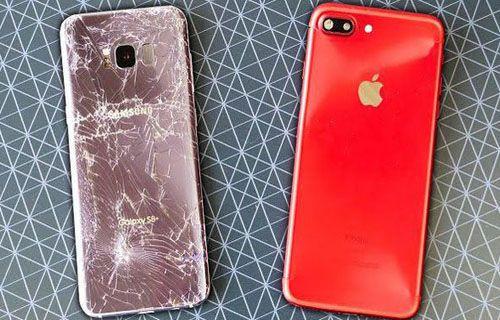 Galaxy S8+ vs iPhone 7 Plus düşürme testi (Video)