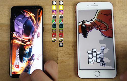 iPhone 7 Plus hız testinde Galaxy S8'i solladı! (Video)