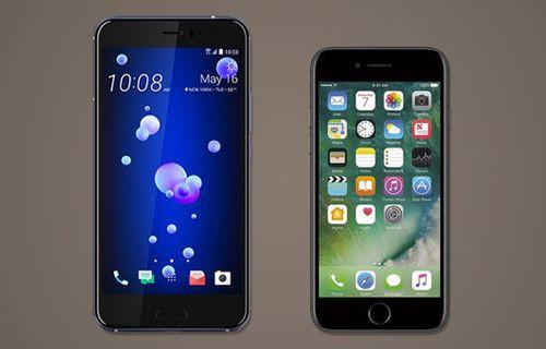 HTC U11 ve iPhone 7 karşılaştırma