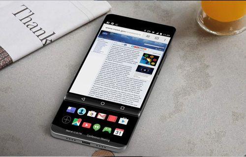 Kızaklı çift ekranlı LG V30 sızdırıldı