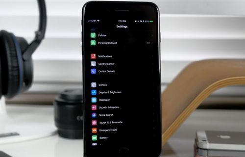 iOS 11 ile gizli siyah tema seçeneği geliyor!
