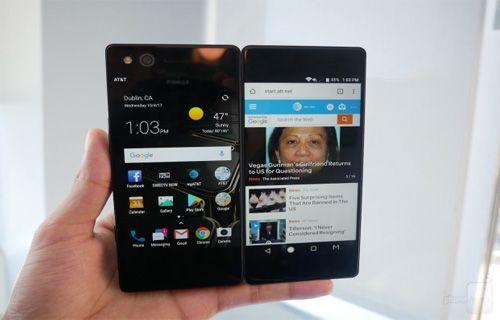 İşte katlanabilen çift ekranlı akıllı telefon ZTE Axon M
