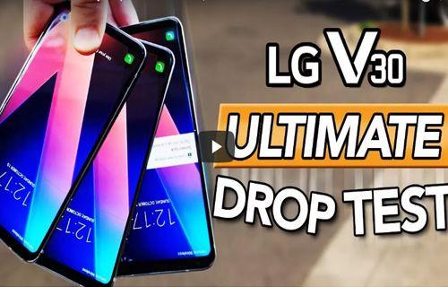 LG V30 iPhone 8'den daha sağlam! İşte kanıtı!