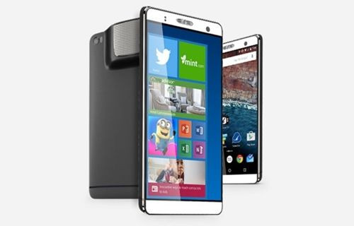 Android ve Windows 10 PC işletim sistemlerini kullanan, projektörlü telefon: Holofone