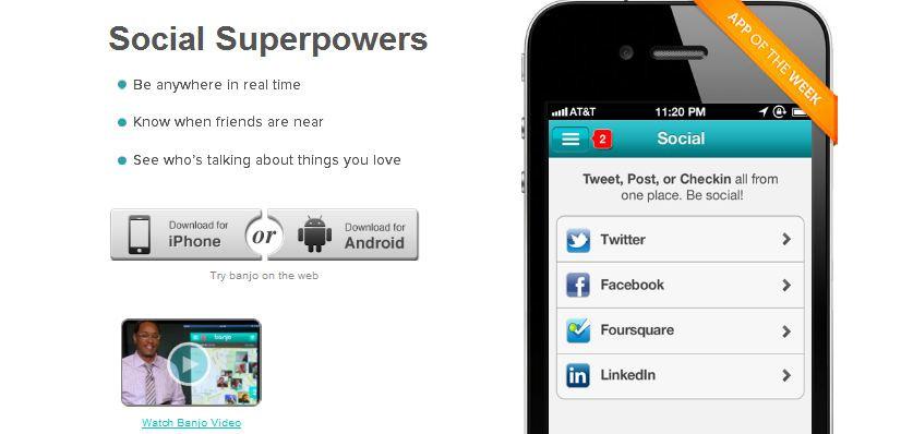Facebook + Twitter + Instagram + Foursquare birleşirse?: Banjo